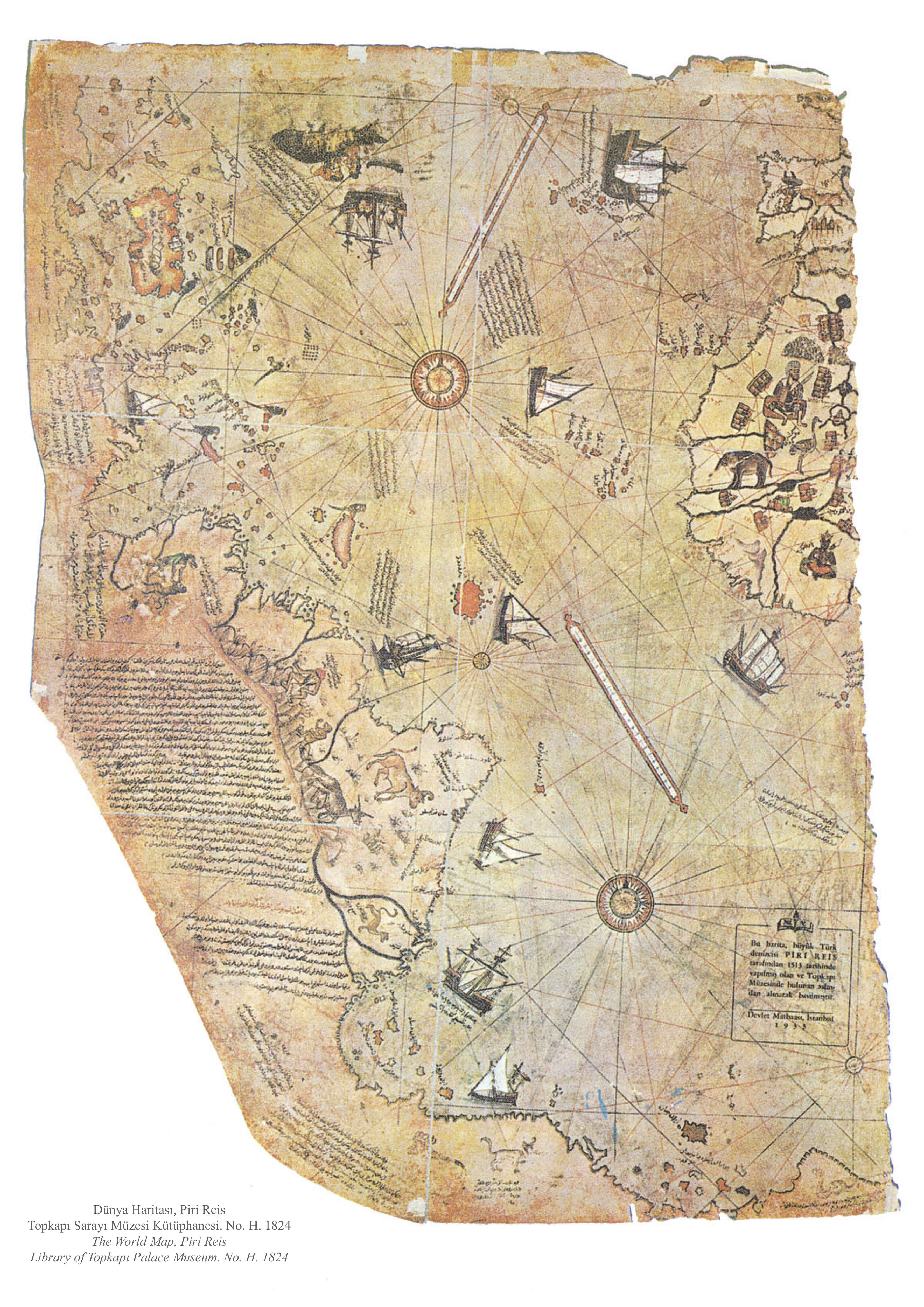 Piri Reis Map Antarctica without ice evidence of Ancient