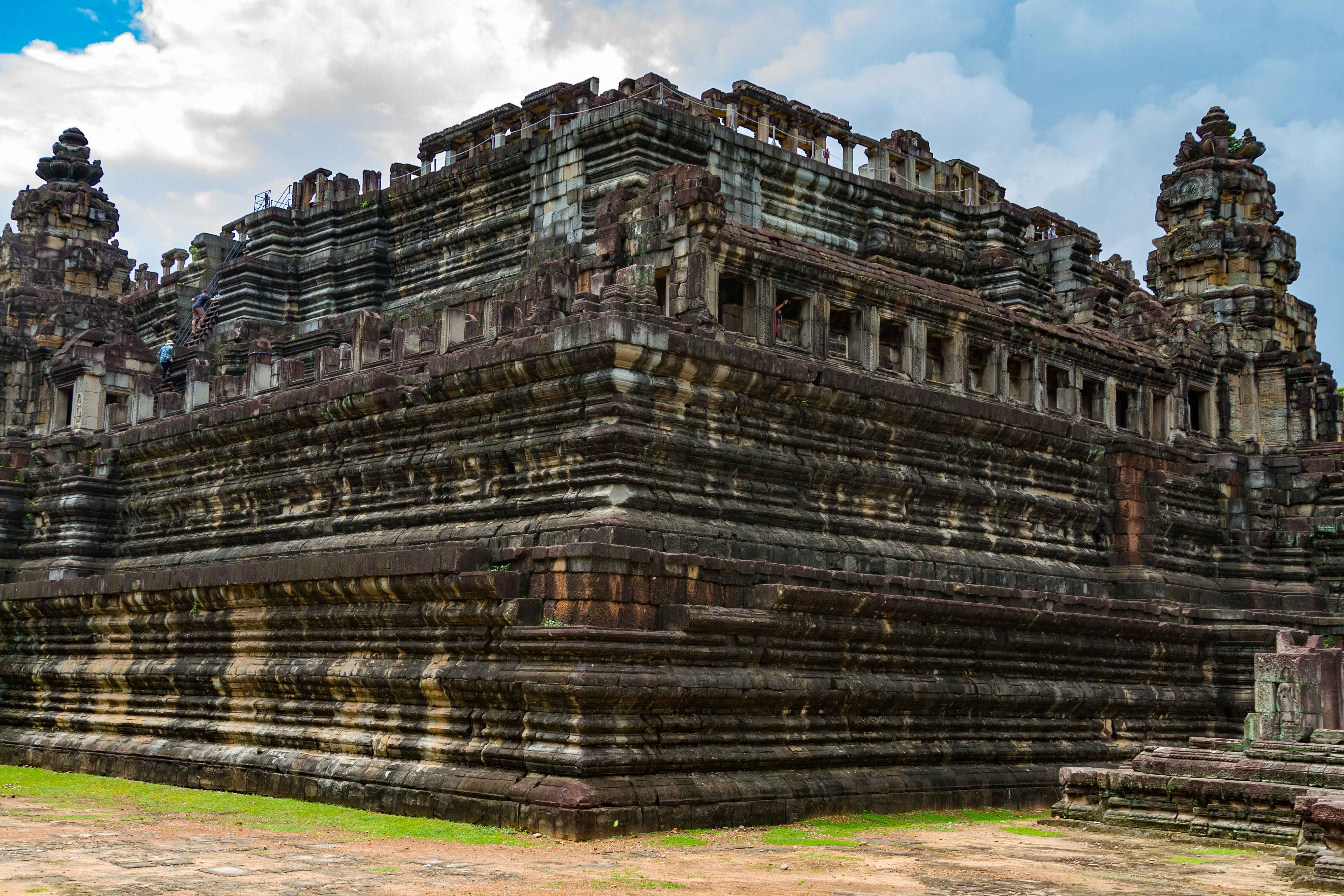 Side-View-of-Baphuon-Temple-at-Angkor-Wat-Cambodia